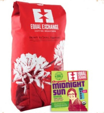 Equal Exchange Organic Coffee, Midnight Sun, Beans, 5 Lbs
