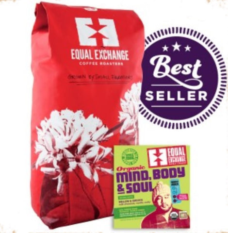 Equal Exchange Organic Coffee, Mind Body & Soul, Beans, 5 Lbs