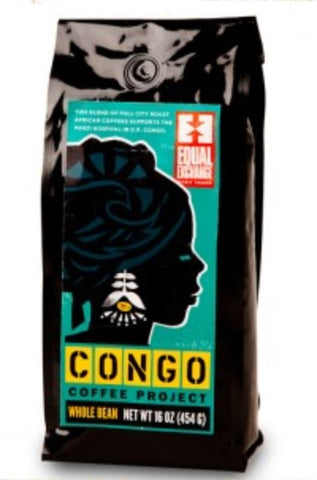 Equal Exchange Organic, Congo Coffee Project, Beans, 1 Pound, 3 Pack