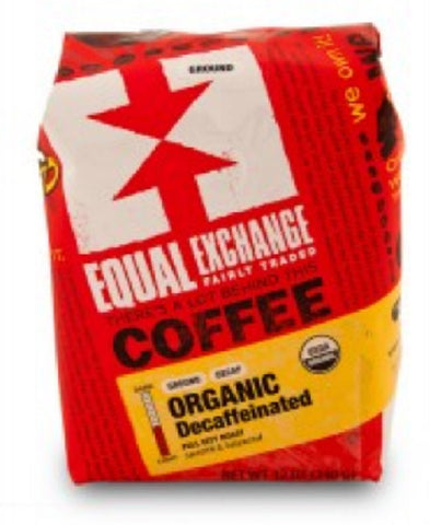 Equal Exchange Organic Coffee, Decaf, Beans, 12 Ounce
