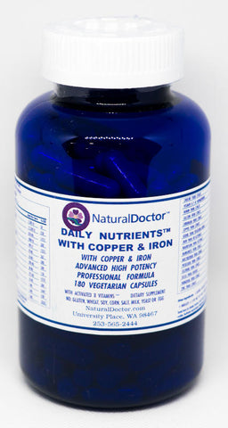 NaturalDoctor, Citrate Mins Daily Nutrients with Copper & Iron, 180 Veg Caps