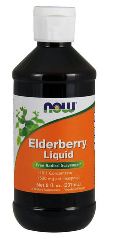 NOW FOODS ELDERBERRY LIQUID CONCENTRATE, 8 OUNCES