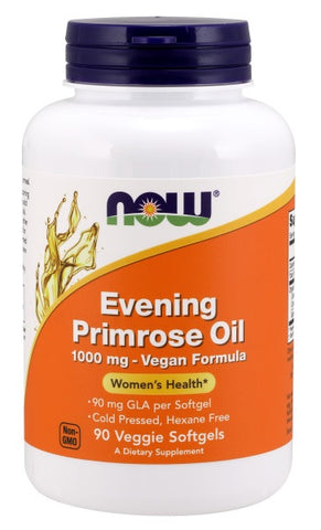 NOW FOODS EVENING PRIMEROSE OIL 1000 MG, 90 VEGGIE SOFTGELS