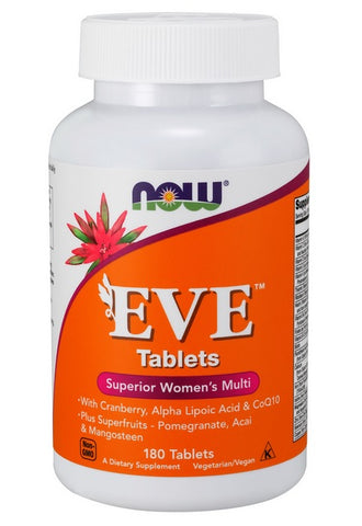 NOW FOODS EVE WOMEN'S MULTIPLE VITAMIN MINERAL, 180 TABS
