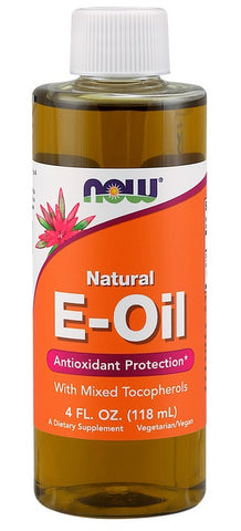 NOW FOODS, E OIL, 4 OUNCES