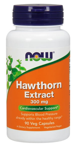 NOW FOODS HAWTHORN EXTRACT, 300 MG, 90 VEG CAPS