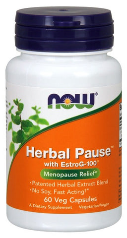 NOW FOODS HERBAL PAUSE WITH EstroG-100®, 100 VEG CAPSULES