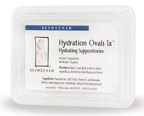Bezwecken Hydration Ovals™ 1x , 16 oval suppositories