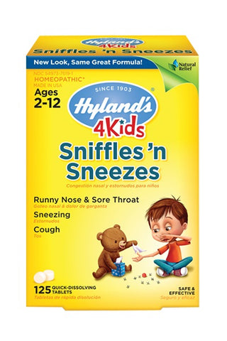 Hyland's Homeopathic, 4Kids Sniffles 'N Sneezes, 125 Tablets