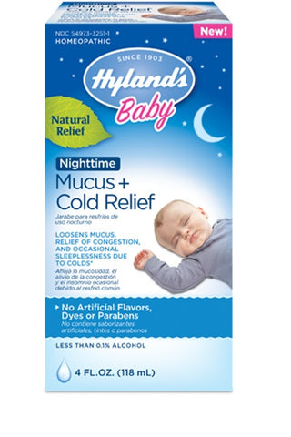 Hyland's Baby Nighttime Mucus + Cold Relief, 4 Fluid Ounces