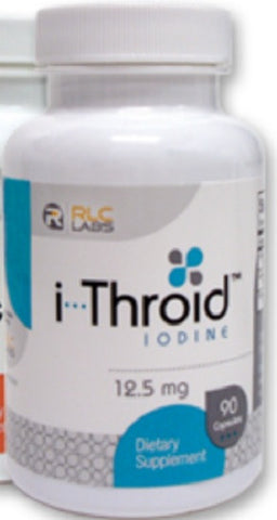 RLC LABS i THROID, IODINE  12.5 MG, 90 VEG CAPSULES