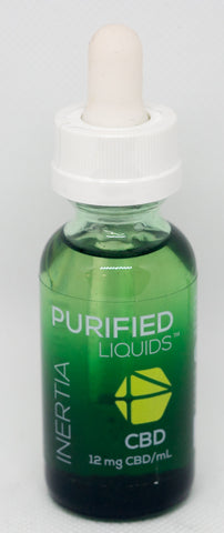 CV Sciences Purified Liquids (360mg CBD), Inertia Vape Blend, 1 Oz Bottle