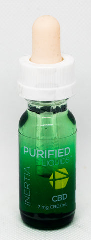 CV Sciences Purified Liquids (100mg CBD), Inertia Vape Blend, 0.5 Oz Bottle