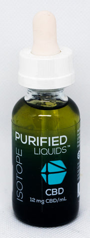 CV Sciences Purified Liquids (360mg CBD), Isotope Vape Blend, 1 Oz Bottle.