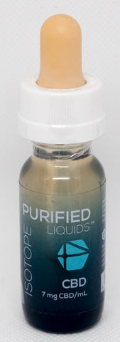 CV Sciences Purified Liquids (100mg CBD), Isotope Vape Blend, 0.5 Oz Bottle