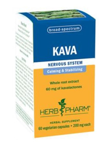 HERB PHARM KAVA, 60 VEG CAPS