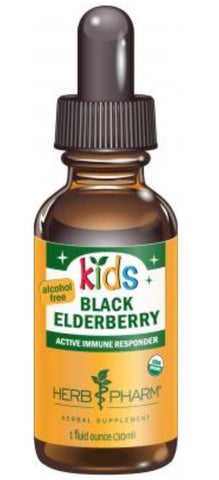 HERB PHARM ORGANIC KIDS BLACK EDLERBERRY GLYCERITE 1 OUNCE