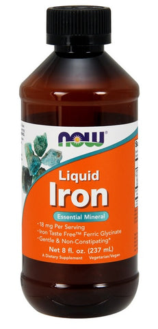 NOW FOODS, LIQUID IRON, 8 OUNCES