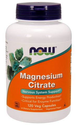 NOW FOODS, MAGNESIUM CITRATE, 120 VEG CAPS