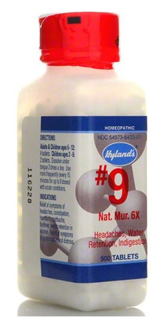 Hyland's Homeopathic Cell Salt # 9 Natrum Mur 6x, 500 Tabs