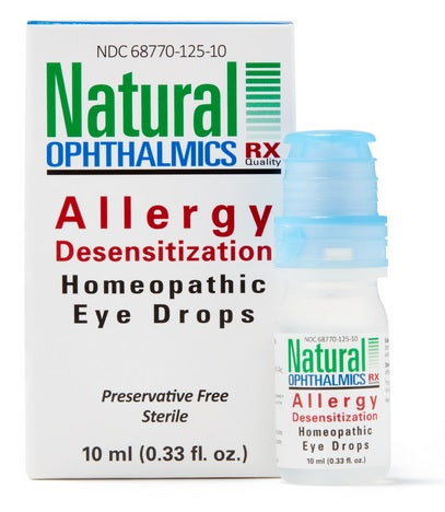 Natural Ophthalmics Homeopathic Allergy Desensitazation Eye Drops, 10mL
