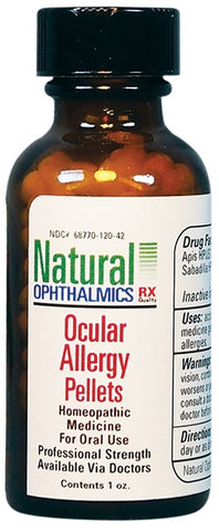 Natural Ophthalmics Homeopathic Ocular Allergy Oral Pellets