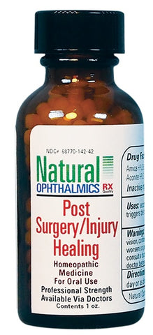Natural Ophthalmics Homeopathic Post Surgery & Injury Healing Oral Pellets