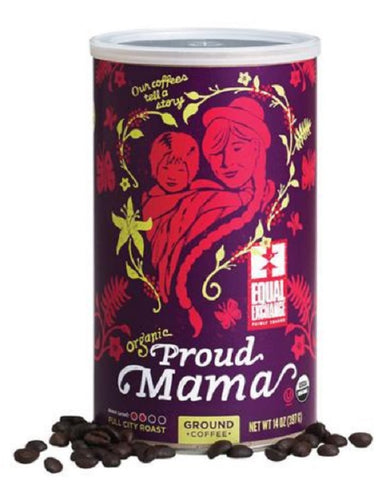 Equal Exchange Organic Coffee, Proud Mama, Ground, 14 Ounces
