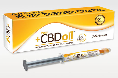 CV Sciences +CBD Oil GOLD, 3gm (60mg CBD), Applicator