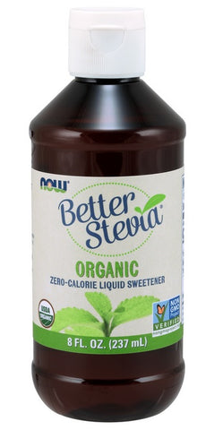 NOW FOODS, BETTER STEVIA LIQUID, ORGANIC, 8 OUNCES