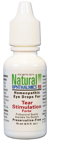 Natural Ophthalmics Homeopathic Tear Stimulation Forte Dry Eye Drops, 15mL