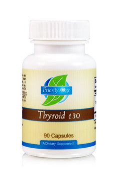 Priority One Thyroid 130 mg 90 Capsules