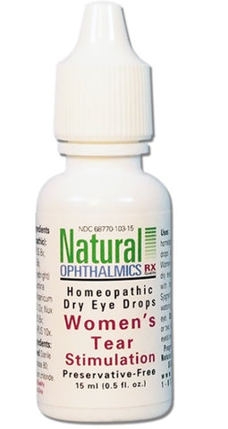 Natural Ophthalmics, Dry Eye Women's Tear Stimulation Drops, 15mL