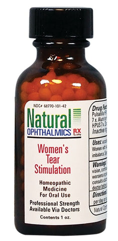 Natural Ophthalmics, Women's Tear Stimulation, Pellets