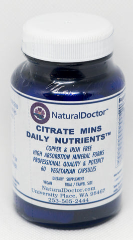 NaturalDoctor, Citrate Mins Daily Nutrients without Copper & Iron, 60 Veg Caps