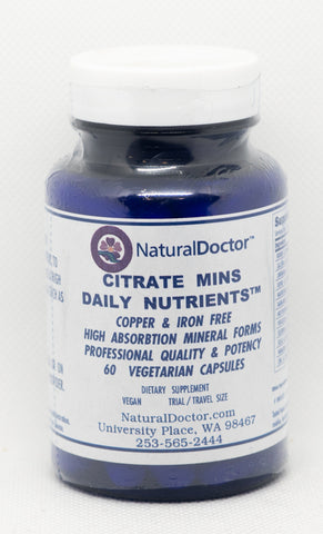 NaturalDoctor, Citrate Mins Daily Nutrients Without Copper & Iron, 60 VegCaps
