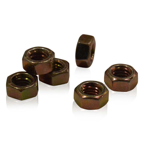 M6 Hex Nut | Yellow Zinc Plated | JIS B1181, Carbon Steel Hardware JIS - Overland Metric