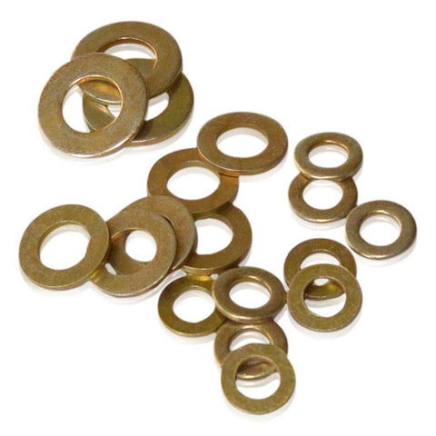 M10 Flat Washer | Gold CAD Plated | DIN 125-A, Gold Cadmium Hardware JIS - Overland Metric
