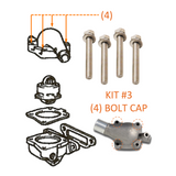 Thermostat Housing or Cap | Marine Grade Stainless Hardware & Bolt Kit | Toyota Land Cruiser 2F FJ40, Stainless Hardware JIS - Overland Metric