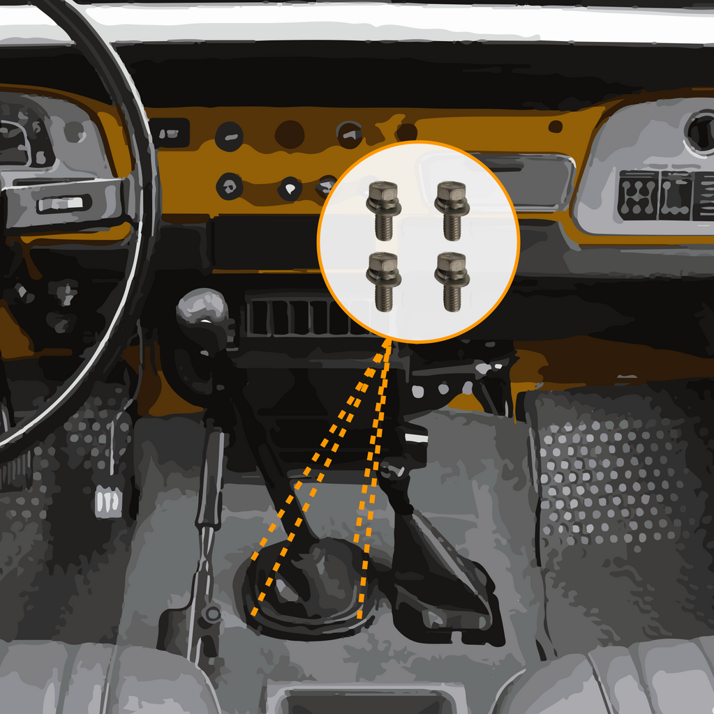 Transmission Shifter Boot | Marine Grade Stainless Hardware & Bolt Kit | Toyota Land Cruiser FJ40