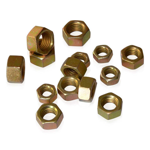 M8 Hex Nut | Gold CAD Plated | JIS B1181, Gold Cadmium Hardware JIS - Overland Metric