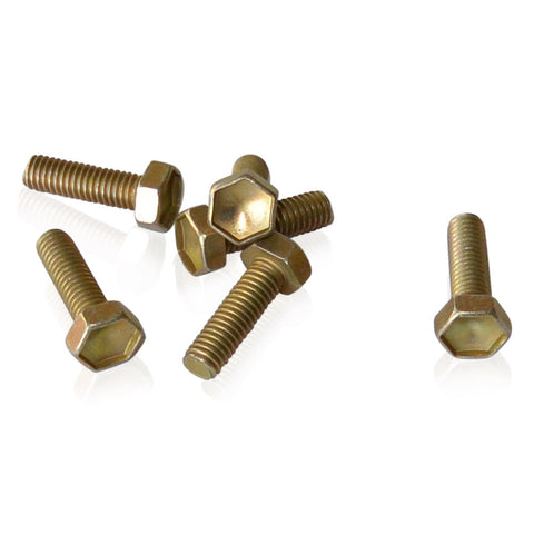 M6x20x1.00 Hex Bolt | Gold CAD 10.9 Steel | JIS B1180, Gold Cadmium Hardware JIS - Overland Metric