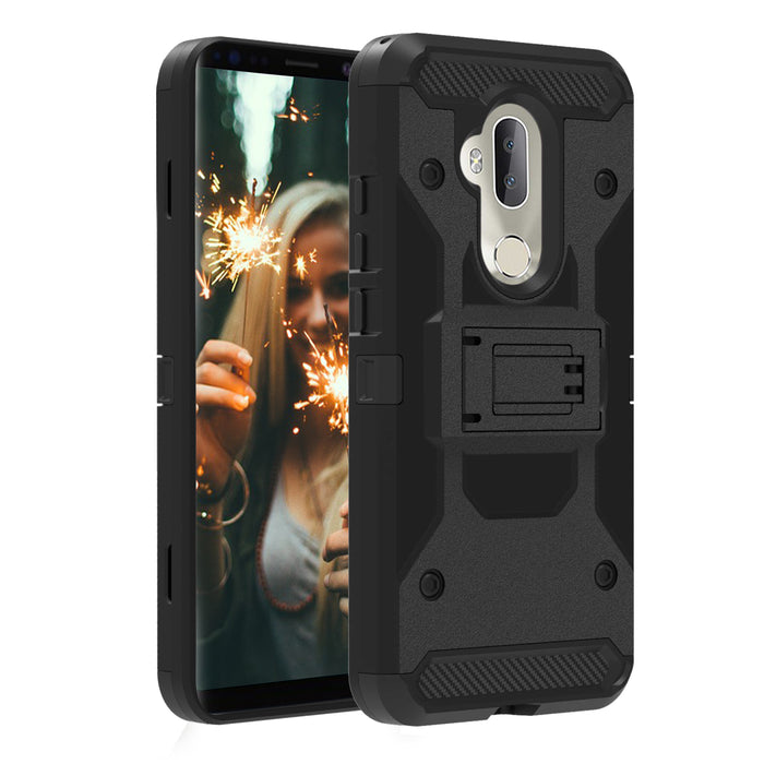 Alcatel 7  Case [Max Guard][USA Flag Skull]