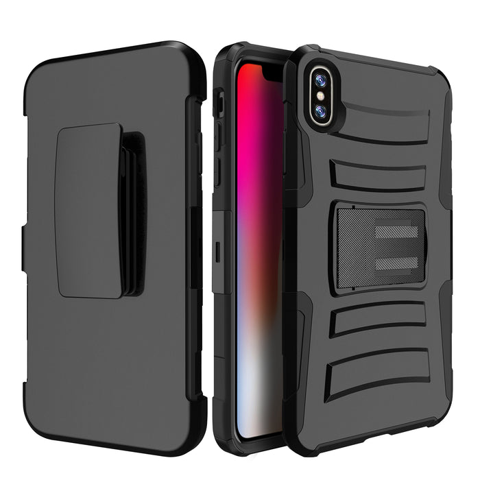Apple iPhone Xs Max Case [Holster][Orange Tree Camo]