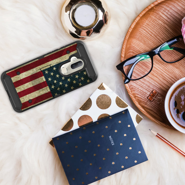 Alcatel 7  Case [Max Guard][USA Flag]