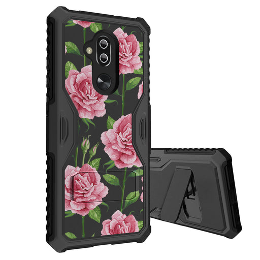 Alcatel 7 Case [Slim Shield][Faded Pink Roses]