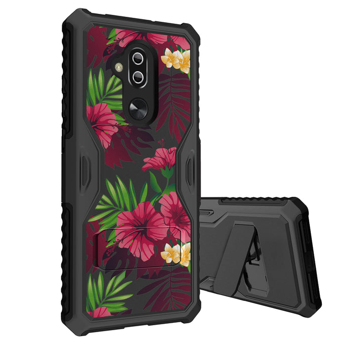 Alcatel 7 Case [Slim Shield][Leaves and Flowers]