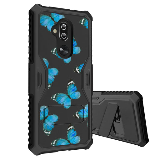 Alcatel 7 Case [Slim Shield][Blue Butterflies]