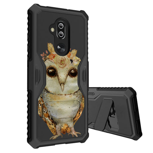 Alcatel 7 Case [Slim Shield][Cute Floral Owl]