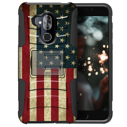 Alcatel 7 Case [Holster][USA Flag]